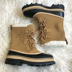 Sorel Men's Caribou Nubuck Leather Snow Boots EUC